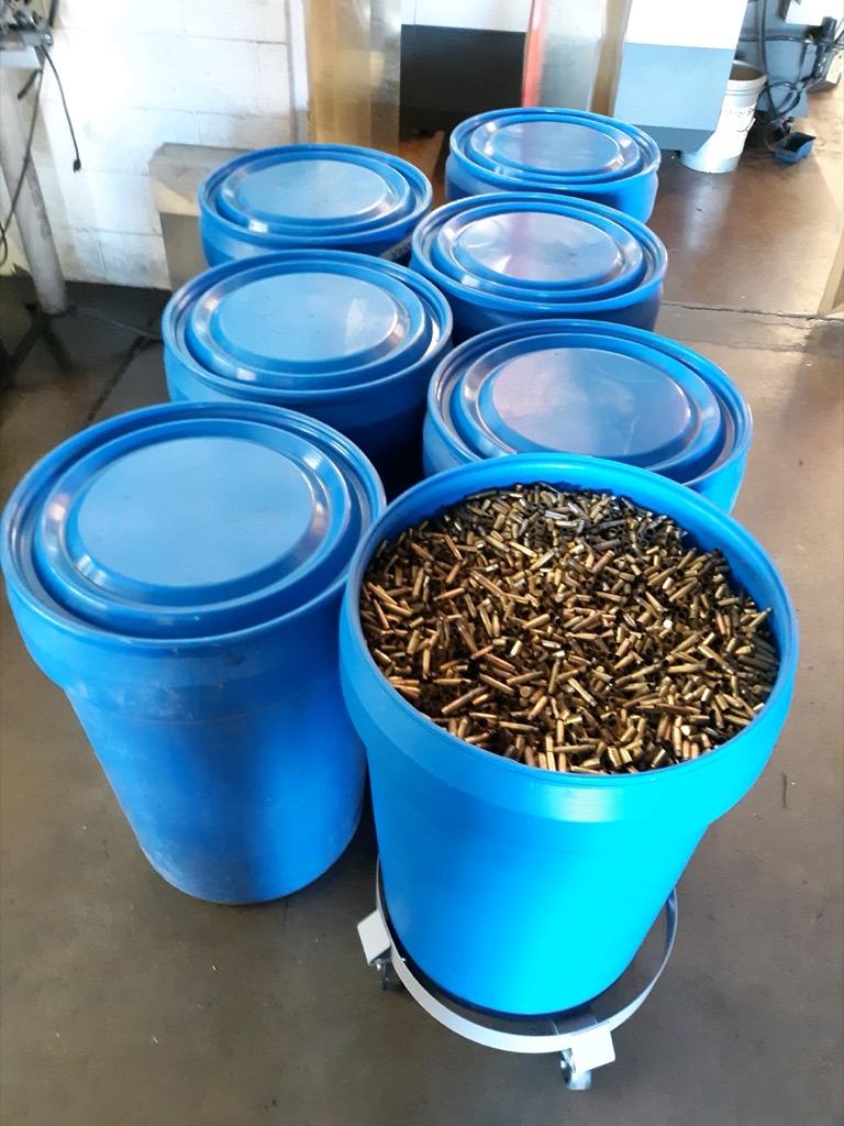 Bullet Casings for reloading in plastic tubs