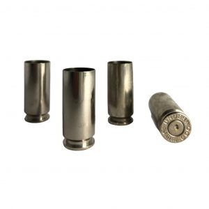 once fired 10mm nickel plated brass