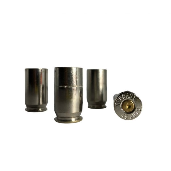 Once Fired 45 ACP Nickel Plated Brass